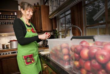 Här blir äpplen välgörenhet