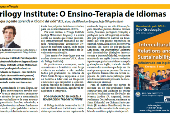 Trilogy Institute: O Ensino – Terapia de Idiomas