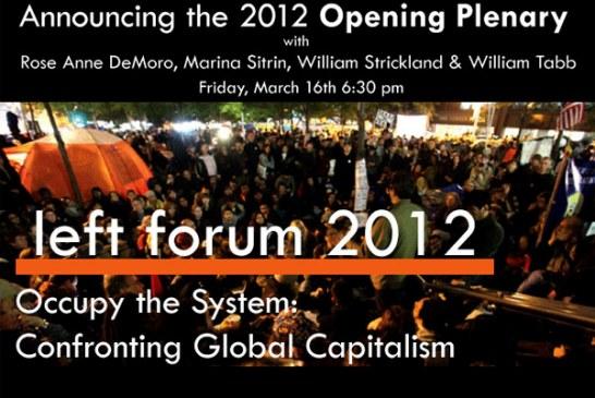 STOPPA förstörelsen av världen ska delta i det sociala världsforumet i New York 2012.