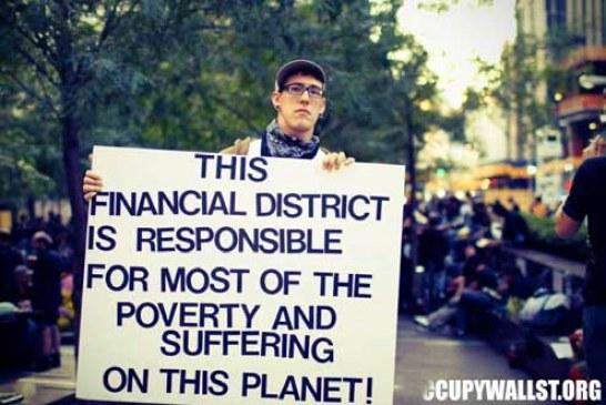 Protester i världen kritiserar den ekonomiska makten