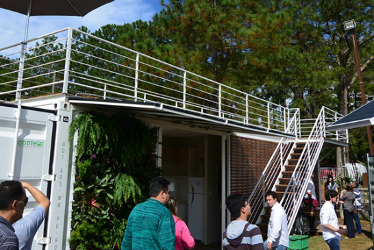 Ventiladores Keppe Motor Universe equiparam casa sustentável Contein na FECONATI 2015